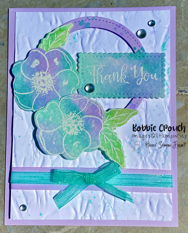 Painted Poppies Water Color Card